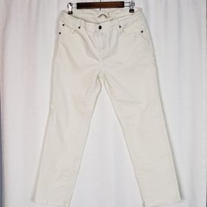 Soft Surroundings White Crop Jeans 8